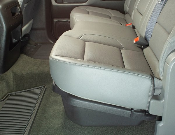 Hidden under your rear pickup seats