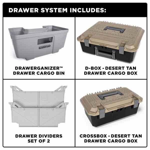 DECKED Truck Bed Cargo Drawer System Organizer