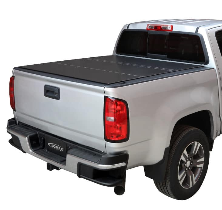Lomax Black Matte Hard Tri Fold Truck Bed Cover Rhr Swag