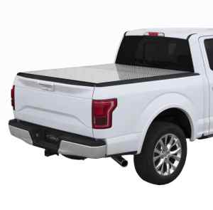 LOMAX Diamond Plate Hard Tri-Fold Truck Bed Cover