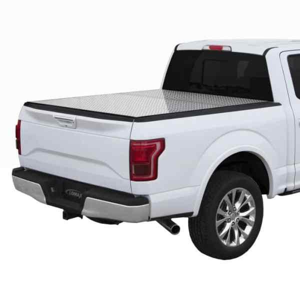 LOMAX Diamond Plate Hard Tri-Fold Truck Bed Cover