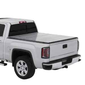 LOMAX Pro Series Diamond Tread Tri-Fold Truck Bed Cover