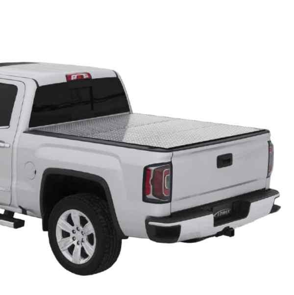 LOMAX Pro Series Diamond Tread Tri-Fold Truck Bed Cover