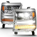 Anzo USA LED Projector Headlights Chevy Silverado 1500 111421 Sold as a Pair