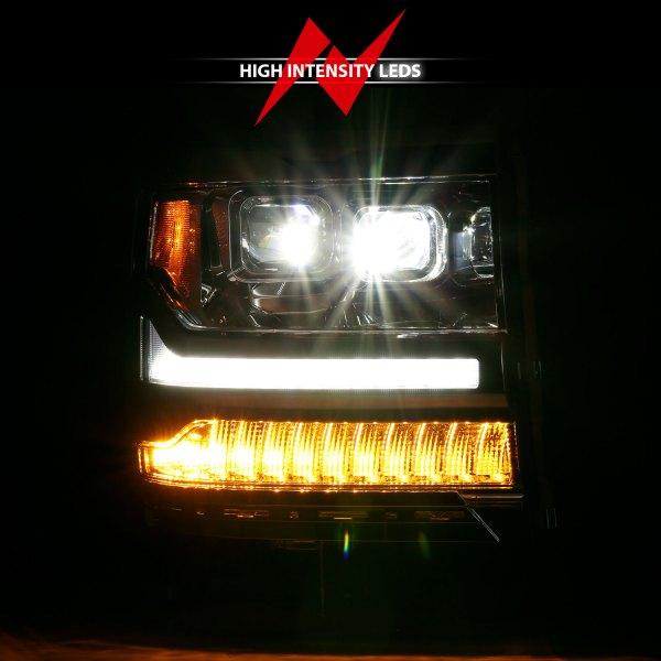 Anzo USA LED Projector Headlights Chevrolet Silverado 1500 111421