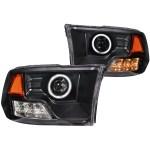 Anzo USA Halo Projector Headlight Black Housing Dodge Ram Truck