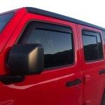 EGR SlimLine In Channel Window Visor Jeep Wrangler