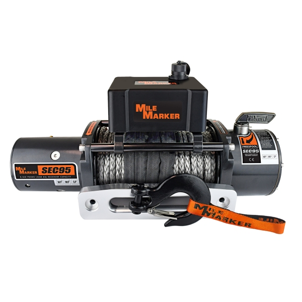 Mile Marker Sec95 9500lb Winch With Synthetic Rope 76-53246BW