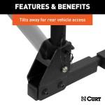 Tilt Away Bracket For Easy Rear Vehicle Access