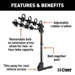 Curt Extendable Rack Features