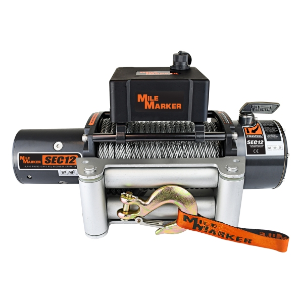Mile Marker SEC12 12,000 lb. Winch With Steel Cable 76-50251BW