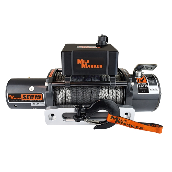 Mile Marker SEC15 15000lb. Winch With Synthetic Rope 76-53260W