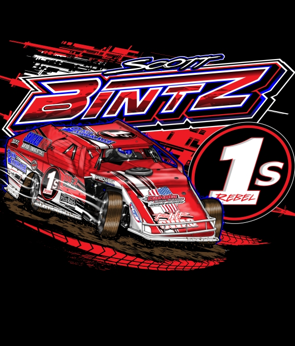 Scott Bintz Racing Illustration Front