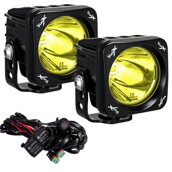 """3x3"""" Square Mini Cannon CG2 Light Kit Selective Yellow"""