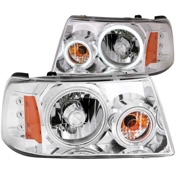 Anzo Chrome Crystal Halo Headlights Ford Ranger   Sold As A Pair