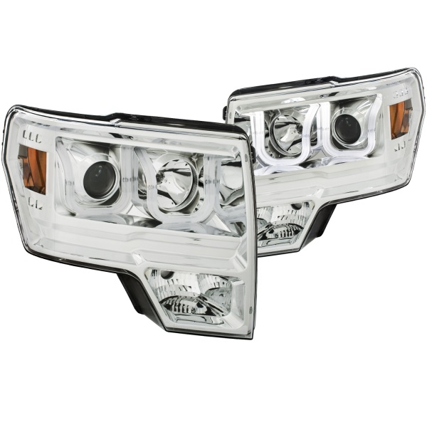 Anzo Chrome U-Bar Projector Headlights Ford F150 Xenon - Sold in Pairs