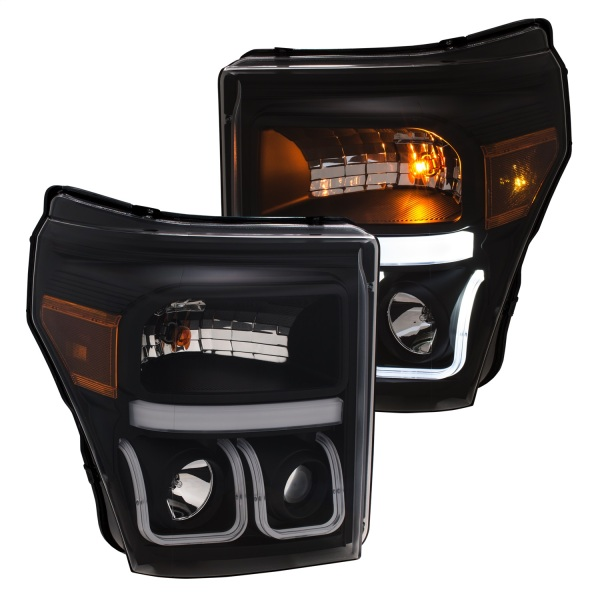 Anzo Black Switchback Projector Headlights Ford F150 F250 F350   Sold As A Pair