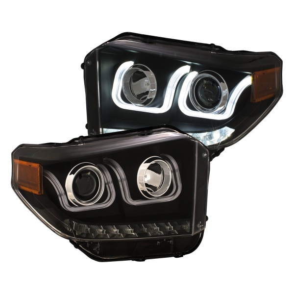 Anzo Black Switchback Projector Headlights Toyota Tundra Black Housing   Sold As A Pair