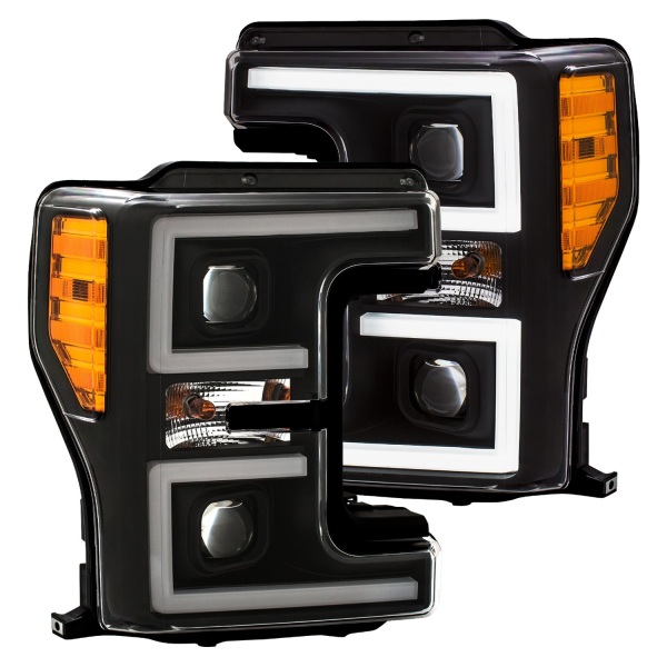 Anzo Black Switchback Projector Headlights Ford F250 F350 F450   Sold As A Pair