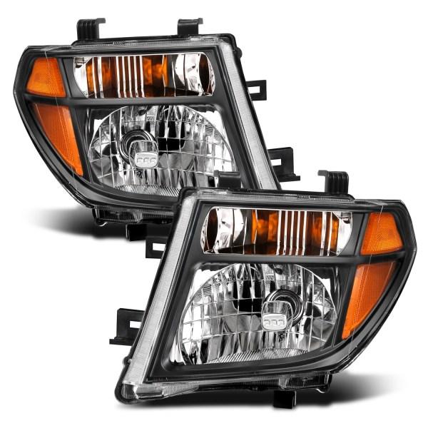 Anzo USA Crystal Headlights with Black Housing Nissan Pathfinder