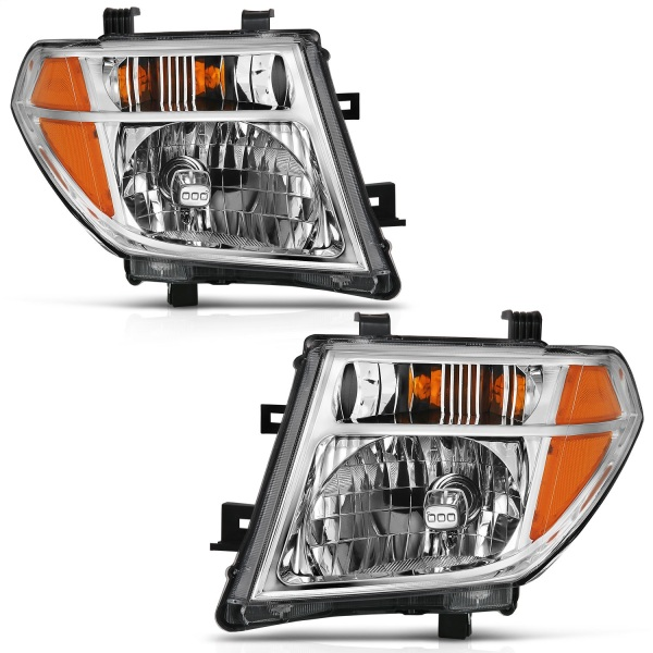 Anzo Chrome Crystal Headlights Nissan Frontier Pathfinder   Sold As A Pair