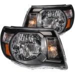 Anzo USA Black Crystal Headlights Toyota Tacoma