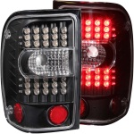 Anzo USA LED Tail Lights Clear Lens Ford Ranger Black Housing   Sold As A Pair