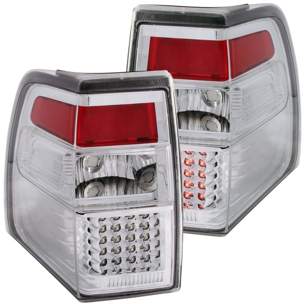 Anzo USA Chrome LED Tail Lights Ford Expedition Clear Lens - Sold as a pair