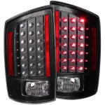 Anzo USA LED Tail Lights Clear Lens Dodge Ram Truck 1500 2500 3500 Black Housing   Sold As A Pair