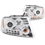 Anzo USA Halogen Projector Headlights with Halo Ford F150
