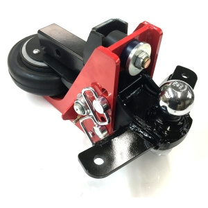 Shocker Air Hitch With Sway Control Tabs & Combo Ball Mount