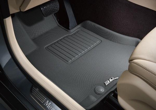 3D Gray Custom Floor Mats & Liners