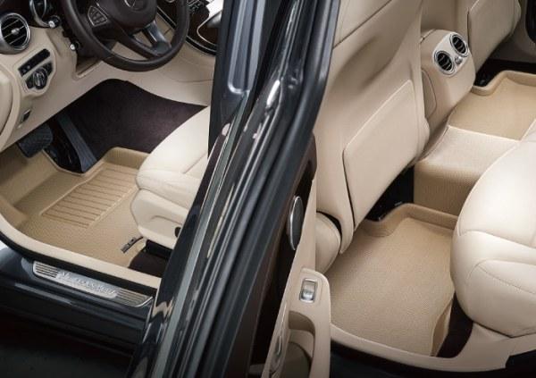 Front & Rear Tan Custom Floor Mats & Liners