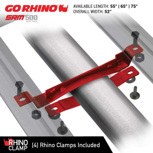Comes with 4 Rhino Clamps to Install to Crossbars