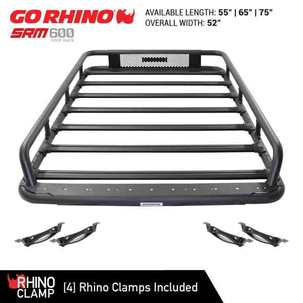 4 Rhino Clamps To Easily Mount to Crossbars