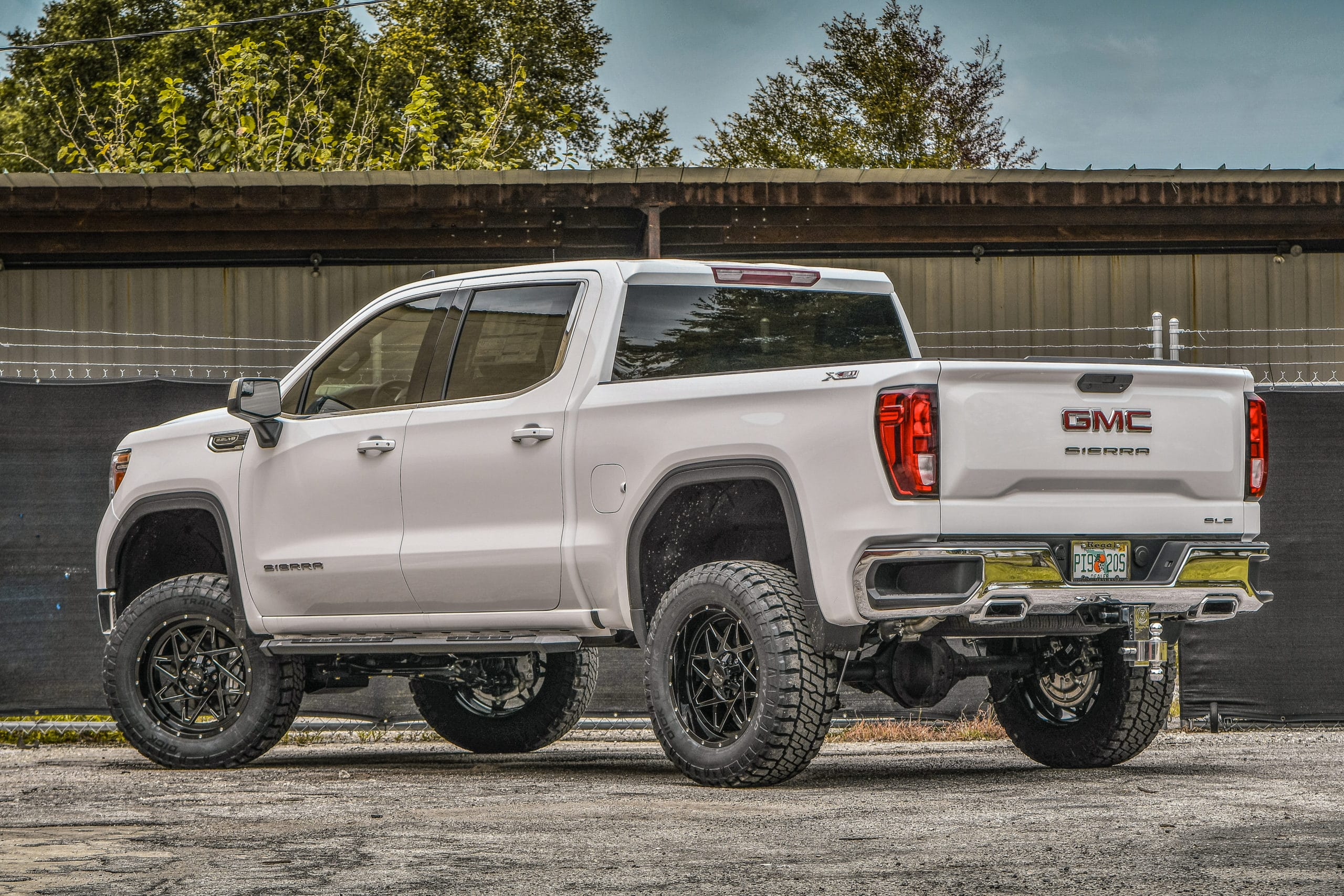 Stainless Patriot Boards on GMC Sierra