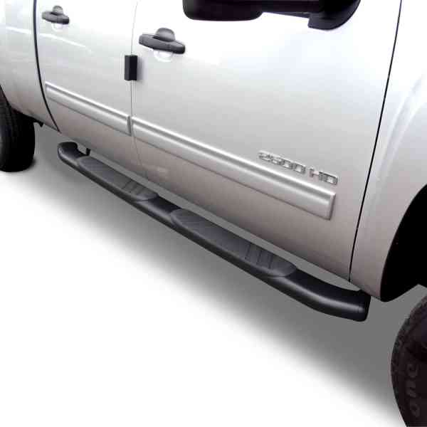 Go Rhino 5in OE Xtreme Black Composite Tube Steps Chevy