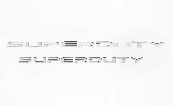 SuperDuty Lettering Stainless Steel