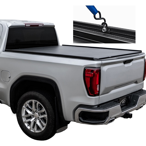 Access Black Matte Truck Bed Rails with Tie Downs