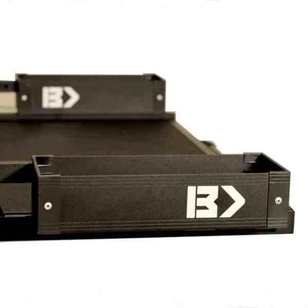 Bedslide Truck Bed Cargo Slide Black Side Bin Mini Kix Black BSA-MKB