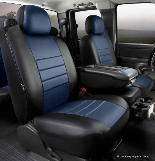 Fia Blue Leather Front Seat Covers