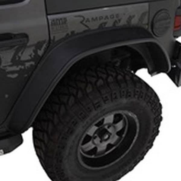 Bushwacker Flat Style Fender Flare Jeep Wrangler Rear