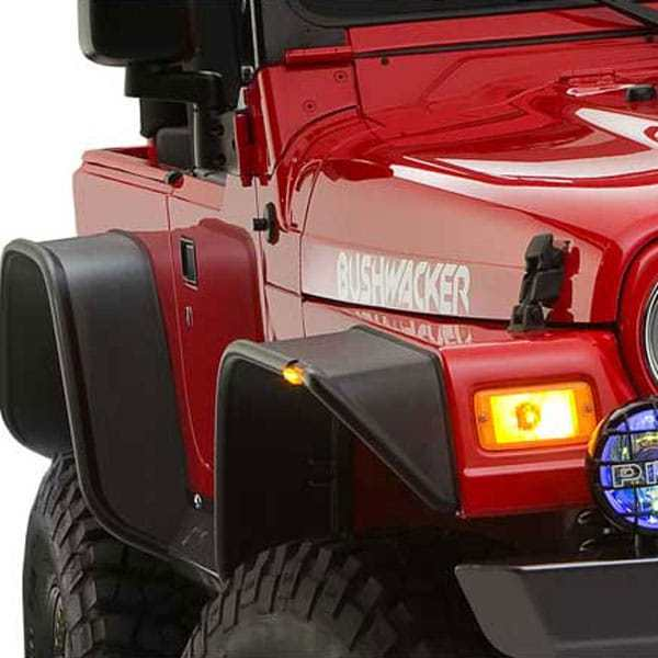 Bushwacker Flat Style Fender Flare Jeep Wrangler 2 Door