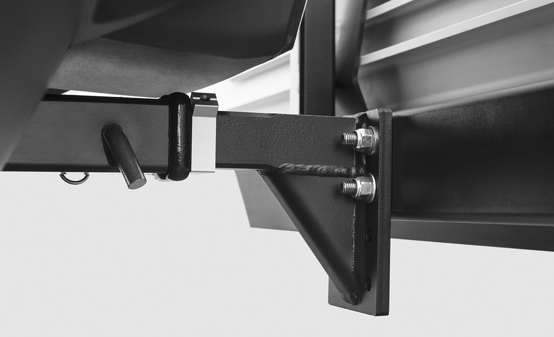 """Mounts to a 2"""" Hitch and Removes Effortlessly"""