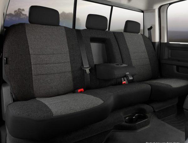 Fia OE Tweed Rear Seat Covers - Charcoal