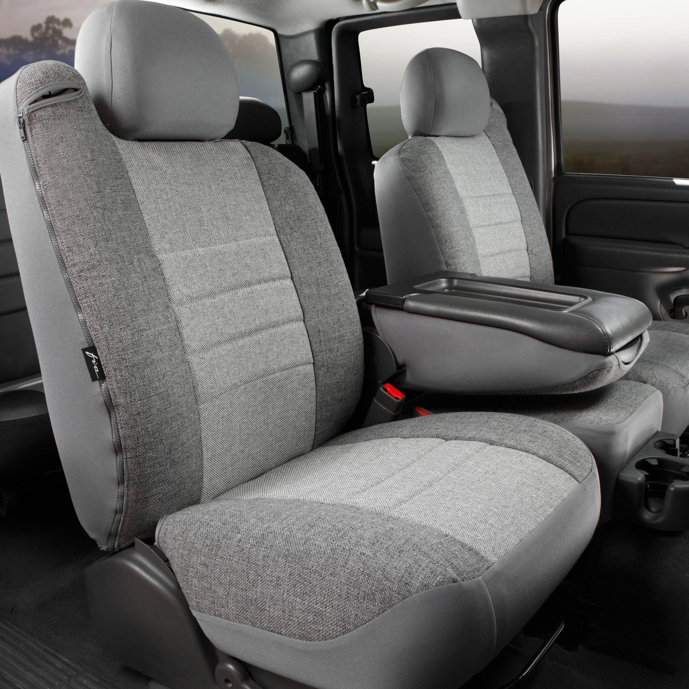 Fia OE Tweed Gray Front Seat Covers