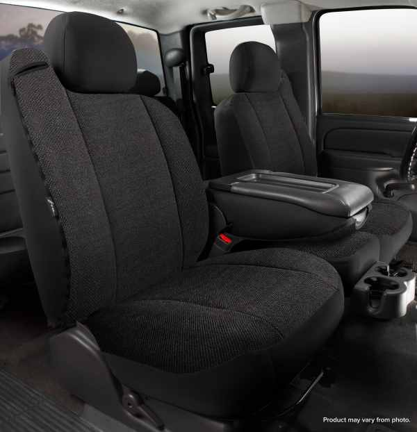 Fia Solid Wrangler Seat Covers - Black- Front Seats