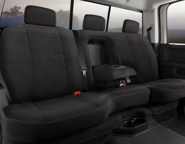 Fia Solid Wrangler Seat Covers - Black- Rear Seats