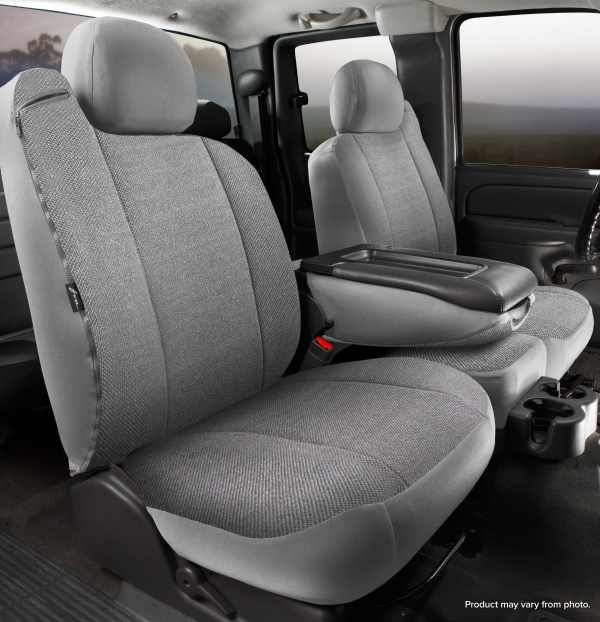 Fia Solid Wrangler Seat Covers - Gray- Front Seats