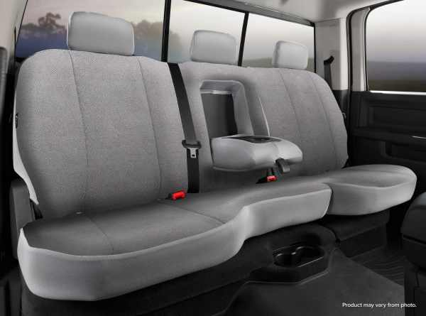 Fia Solid Wrangler Seat Covers - Gray- Rear Seats